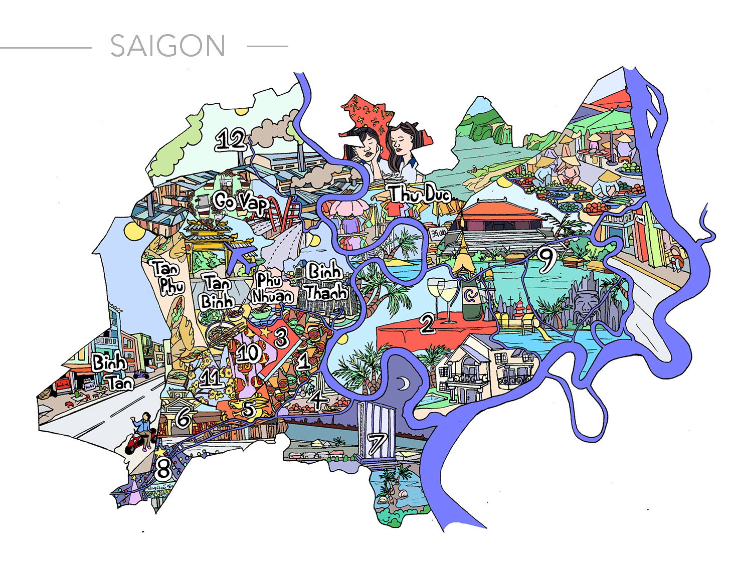 Saigon Illustration